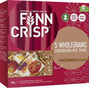 Сухарики Finn Crisp 5 Wholegrains (5 цельных злаков) 190 г